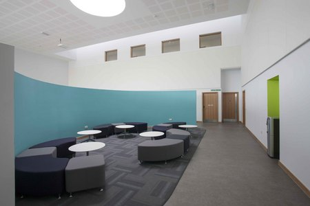 6. Ombler Williams Ltd Gallery: Deeside post 16 education centre curved seating area 2016 034