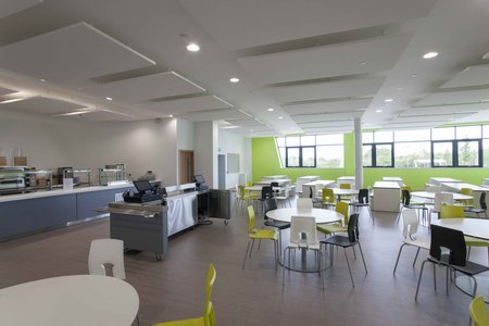 7. Ombler Williams Ltd Gallery: Deeside post 16 education centre dining area 2016 053