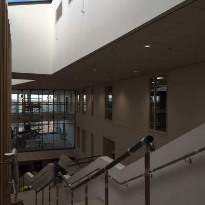 38. Ombler Williams Ltd Gallery: Rhyl High School View From top of Curved Stairs 1